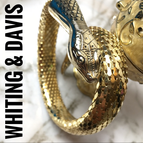 Whiting & Davis Jewelry - Whiting and Davis coil Goldtone snake bracelet